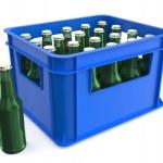 Plastic box with bottles — Stock Photo #68198457