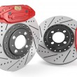 Car discs brake and caliper — Stock Photo #69139723