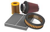 Set of air filter for car — Stock Photo