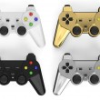 Set of colored gamepads — Stock Photo #71257293