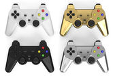 Set of colored gamepads — Stock Photo