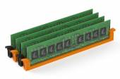 DDR4 memory modules — Stock Photo