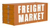 Cargo container, freight market concept — Stock Photo