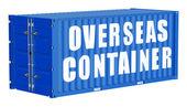 Cargo container, overseas concept — Stock Photo