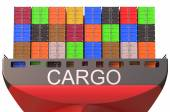 Container ship, cargo concept — Stock Photo