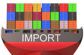 Container ship, import  concept — Stock Photo