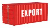 Export concept with cargo container — Stock Photo