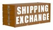 Cargo container, shipping exchange concept — Stock Photo