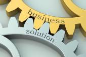 Business Solution concept on the gearwheels — Stock Photo