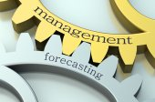 Management and Forecasting concept on the gearwheels — Stock Photo
