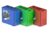 Colored tower pc cases — Stock Photo