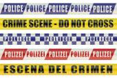 Set of Police Lines — Stock Photo