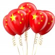 China patriotic balloons, holyday concept — Stock Photo #84860954