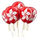 Hong Kong patriotic balloons, holyday concept — Stock Photo #84861100