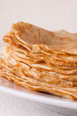 Delicious Pancakes on Plate Served — Stock Photo