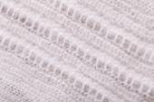 White Flax Fabric with Design — Stock Photo
