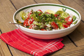 Bowl of Marinated Greek Salad — Stock Photo
