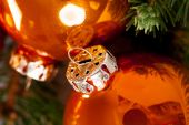 Shiny bright colored Christmas balls — Stock Photo