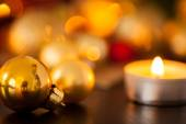 Warm Christmas candlelight background — Stockfoto