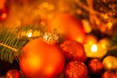 Warm Christmas candlelight background — 图库照片