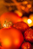 Warm Christmas candlelight background — ストック写真