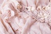 Bordado floral en una prenda de vestir — Foto de Stock