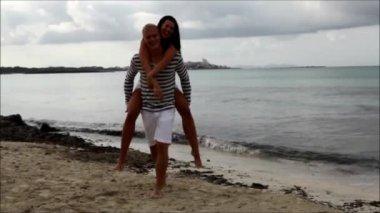 Couple having fun — Stock Video