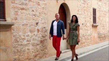 Happy romantic couple — Stock Video