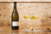 Wine Bottle with Glasses of Wine — Stock Photo