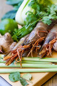 Ingredients for Thai tom yam soup — Stock Photo