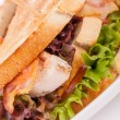 Club sandwich with French fries — Stock Photo #59405425