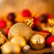 Gold and red Christmas candlelight — Stockfoto #59406633
