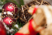 Several assorted Christmas ornaments — Stock Photo