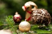 Gouden kerst ornament — Stockfoto