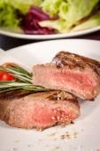 Medium rare beef steak — Stock Photo