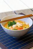 Bowl of traditional Thai  soup — Stock Photo