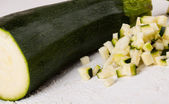 Fresh marrow or courgette — Stock Photo