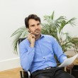 Man sitting in the office — Stock Photo #61431659