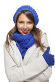 Smiling Woman in Winter Outfit — Stock Photo