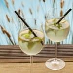 Hugo  ice summer drinks — Stock Photo #64580991