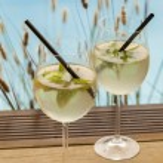 Hugo ice summer drinks — Stock Photo #64581019