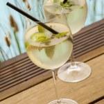 Hugo  ice summer drinks — Stock Photo #64581033