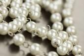 Shiny grey beads — Stock Photo