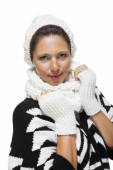 Elegant woman in winter fashion — Stock Photo