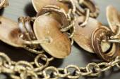 Tarnished old silver jewelry — Stock Photo