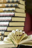 Open book with decorative pages — Stock Photo