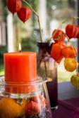 Elegant Thanksgiving  autumn decoration — Stock Photo