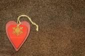 Wooden, handmade christmas decoration — Stock Photo