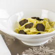 Black Perigord truffles with noodles — Stock Photo #73800431