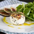 Goats milk cheese and figs — Stock Photo #73802749